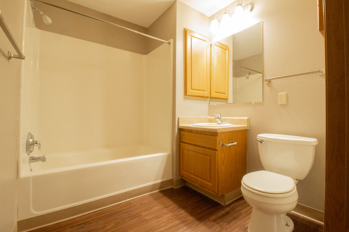 Bathroom Vanity at Delaware Crossing Apartments in Ankeny, Iowa