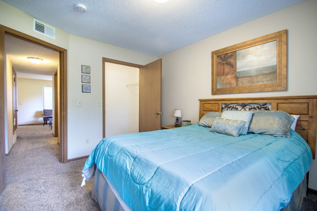 Large Bedrooms at Delaware Crossing Apartments in Ankeny, Iowa