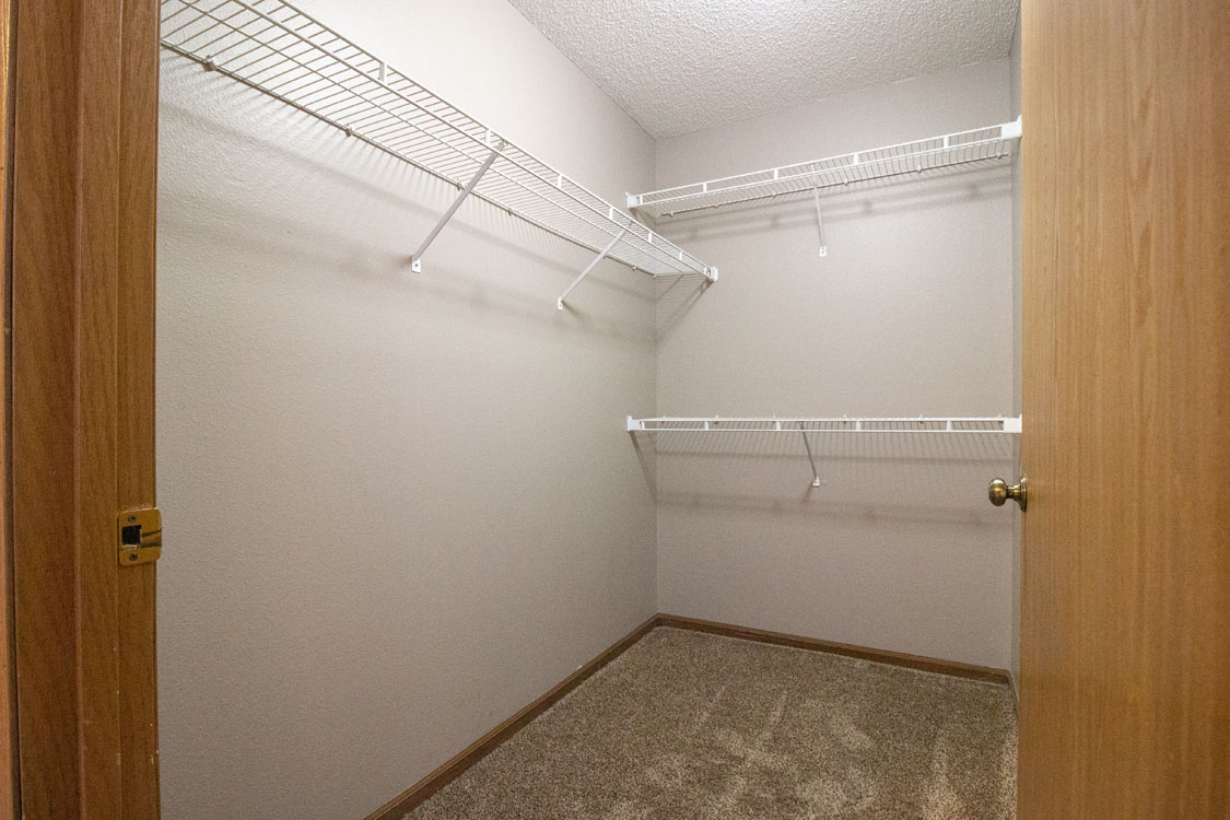 Walk-In Closets at Delaware Crossing Apartments in Ankeny, Iowa