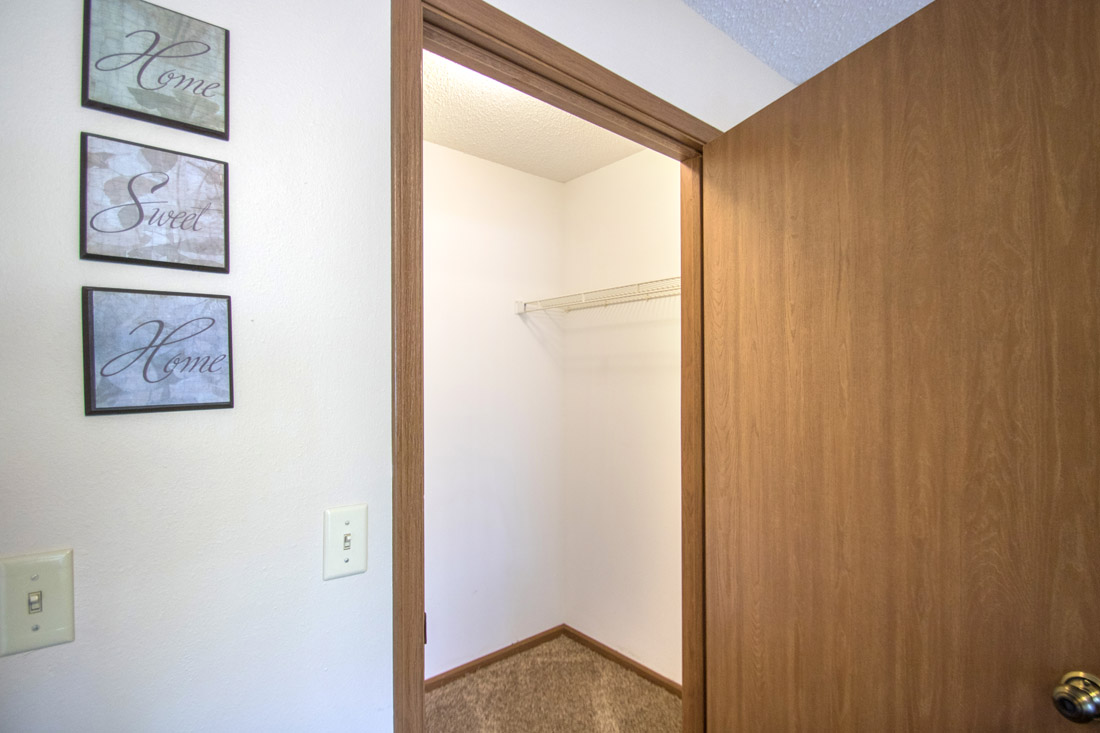Spacious Walk-In Closets at Delaware Crossing Apartments in Ankeny, Iowa