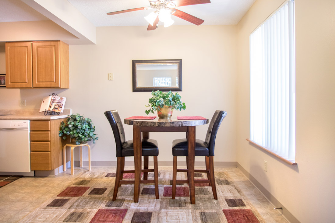 Separate Dining Area at Delaware Crossing Apartments in Ankeny, Iowa