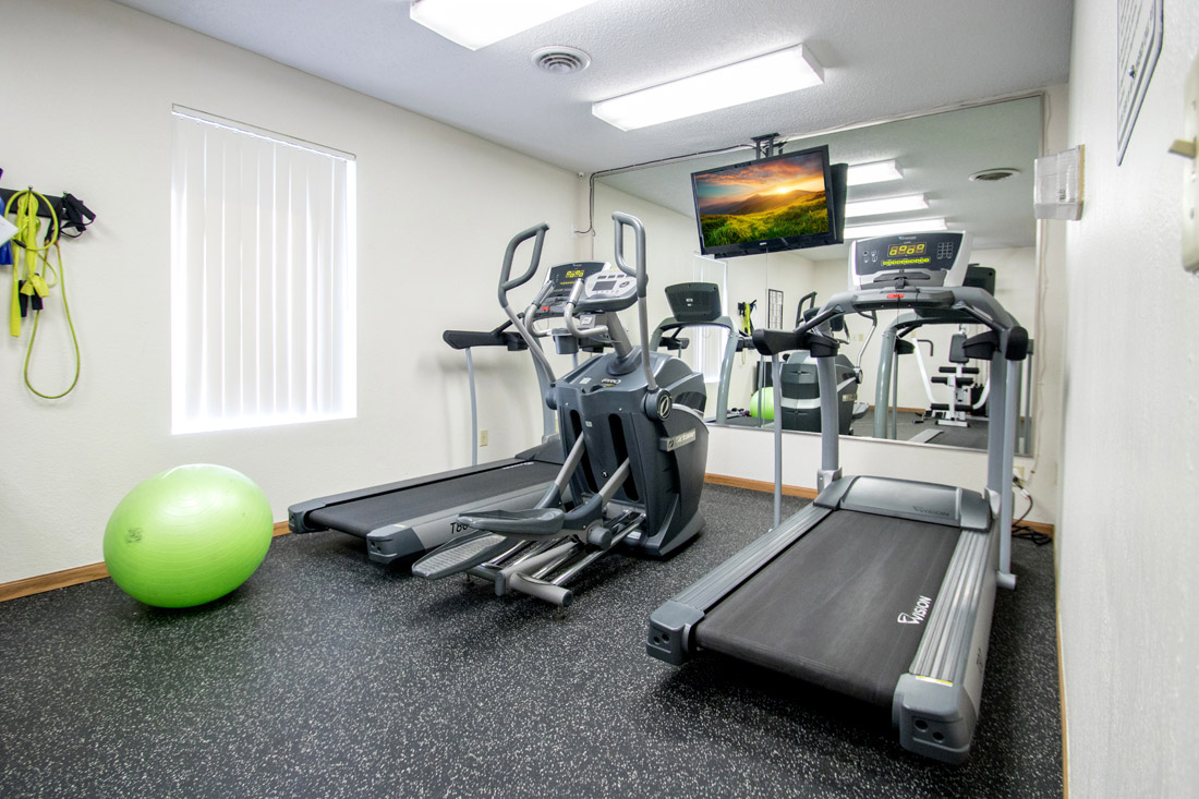 Fitness Center at Delaware Crossing Apartments in Ankeny, Iowa