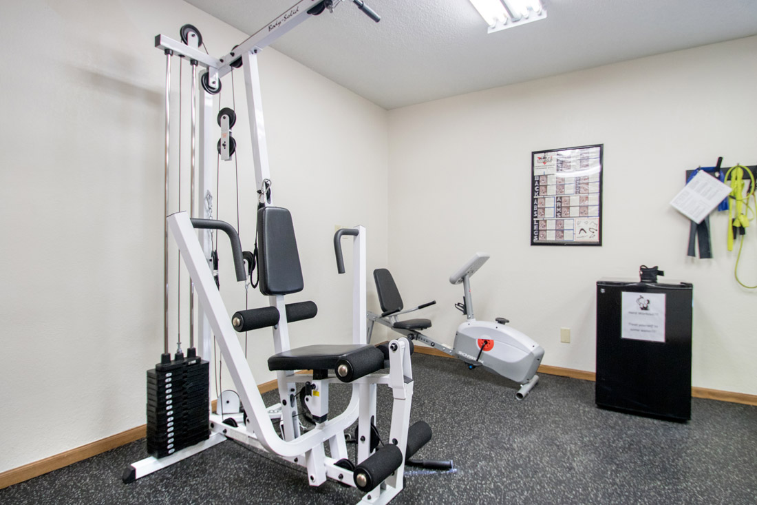 Fully Equipped Gym at Delaware Crossing Apartments in Ankeny, Iowa
