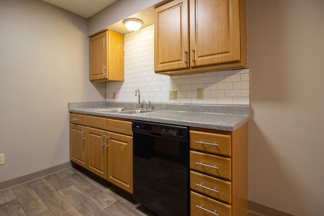 Soft-Close Cabinets at Delaware Crossing Apartments in Ankeny, Iowa