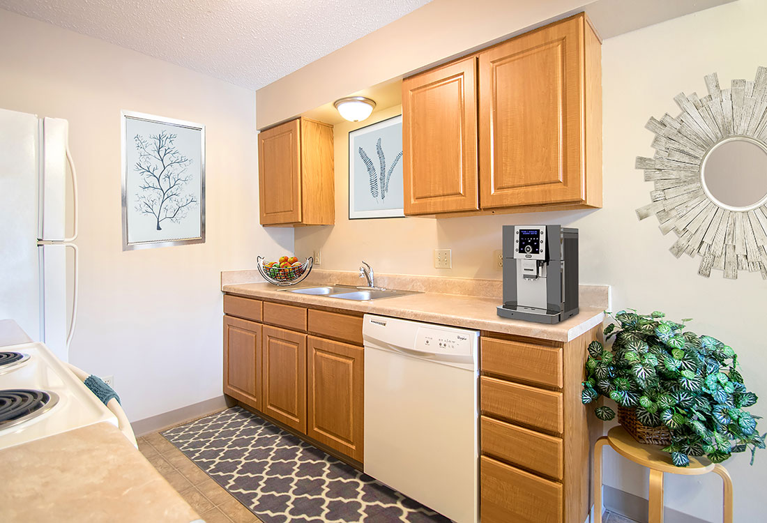 Soft Close Cabinetry at Delaware Crossing Apartments in Ankeny, Iowa