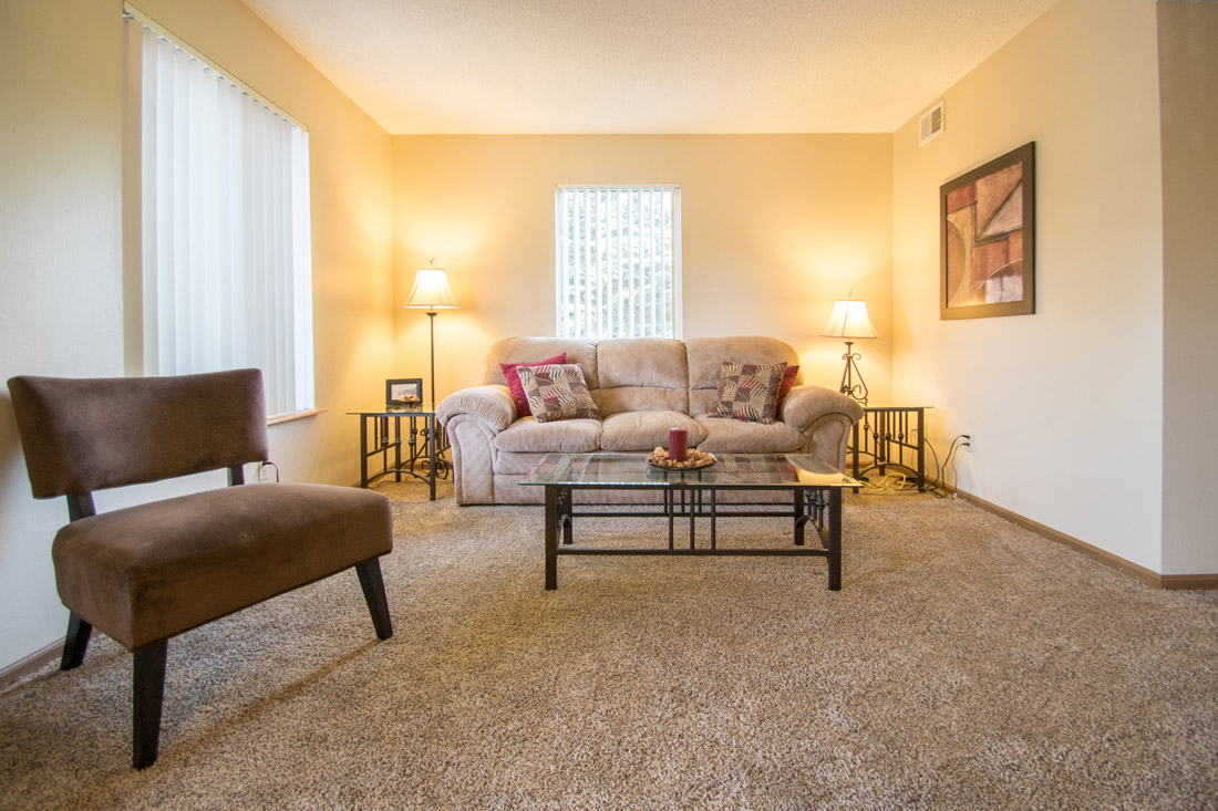 Open Living Space at Delaware Crossing Apartments in Ankeny, Iowa