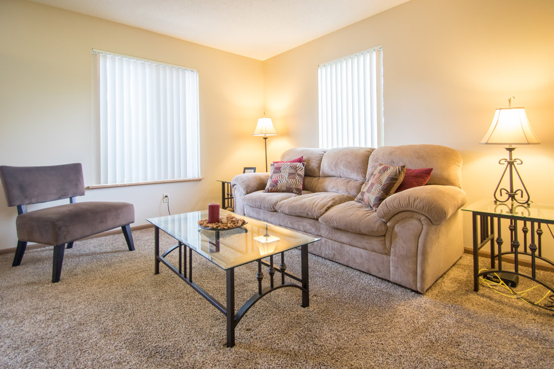 Plush Carpeting at Delaware Crossing Apartments in Ankeny, Iowa