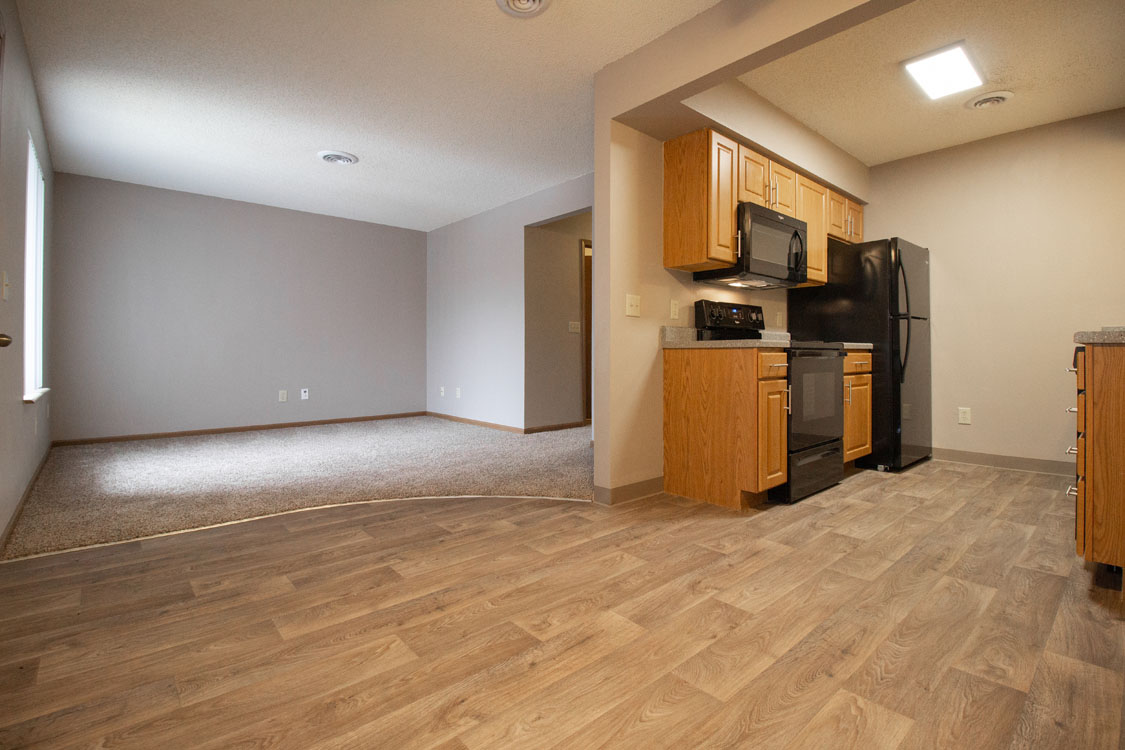 Wood-Style Flooring at Delaware Crossing Apartments in Ankeny, Iowa