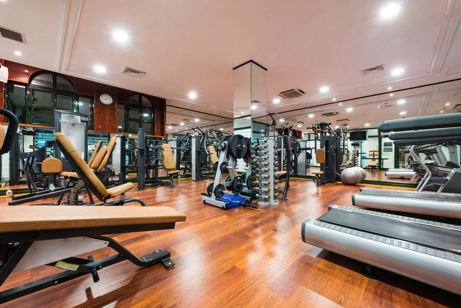 Fully-Equipped Fitness Center at The Midrise Apartments in New Orleans, LA