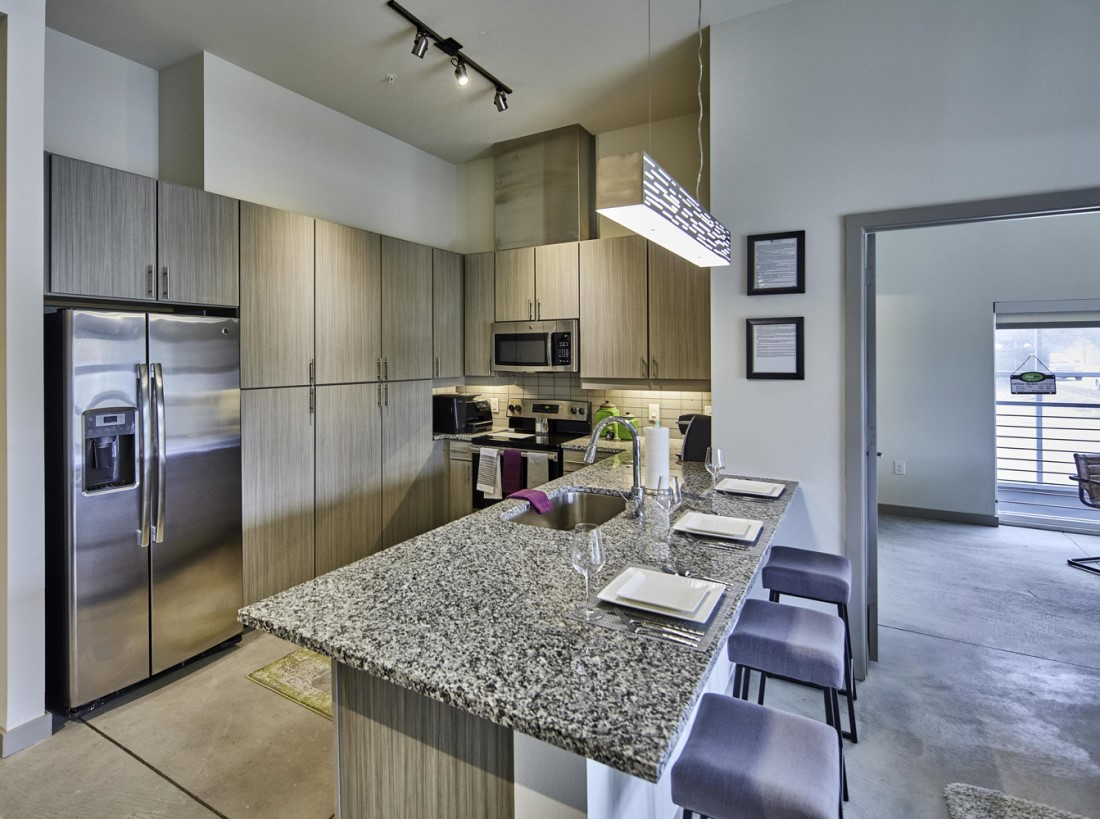 Polished Concrete Flooring at Digit 1919 Apartments in Dallas, TX