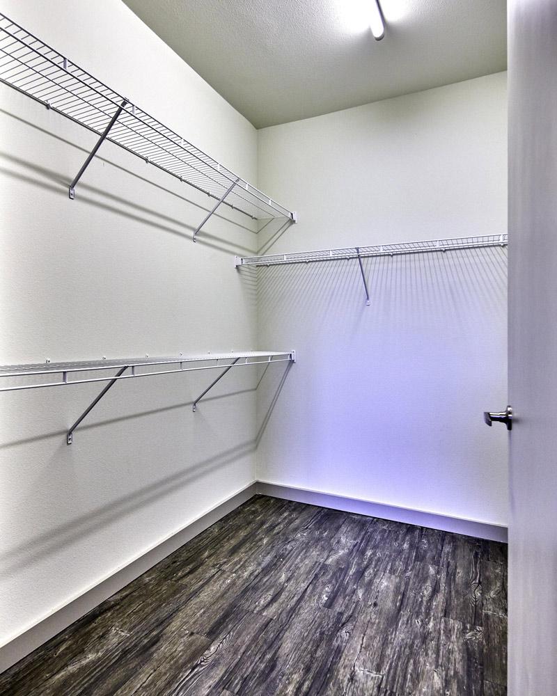 Spacious Walk-In Closet At Digit 1919 Apartments In Dallas, TX