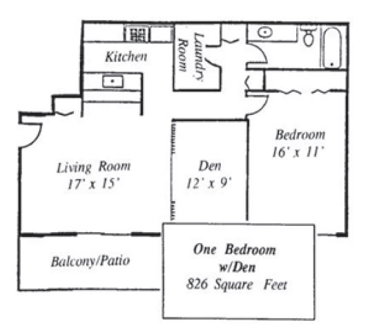 Informative Picture of 1BR with DEN