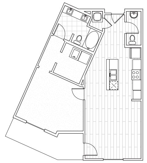 The District Flats - Floorplan - A2a