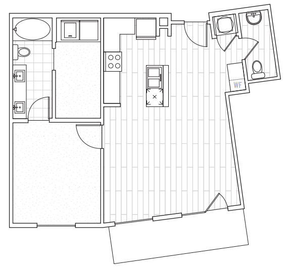 The District Flats - Floorplan - A2f