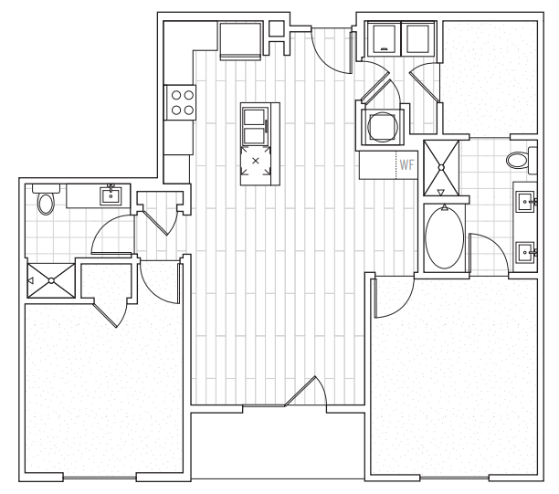 The District Flats - Floorplan - C1