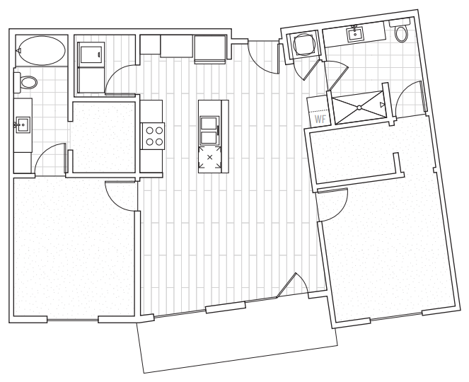 The District Flats - Floorplan - C2b