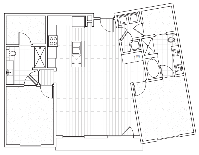 The District Flats - Floorplan - C2d