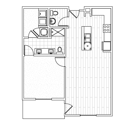 The District Flats - Floorplan - A2c