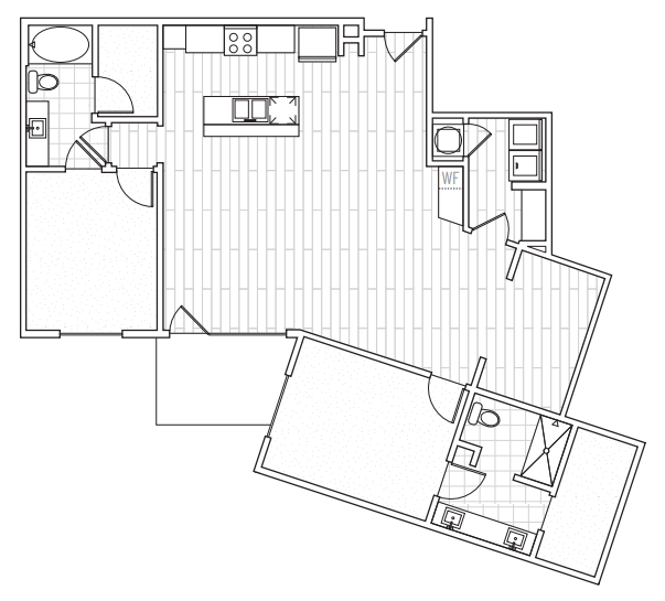 Floorplan - D1 with DEN image