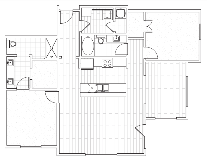 The District Flats - Floorplan - D2b with DEN