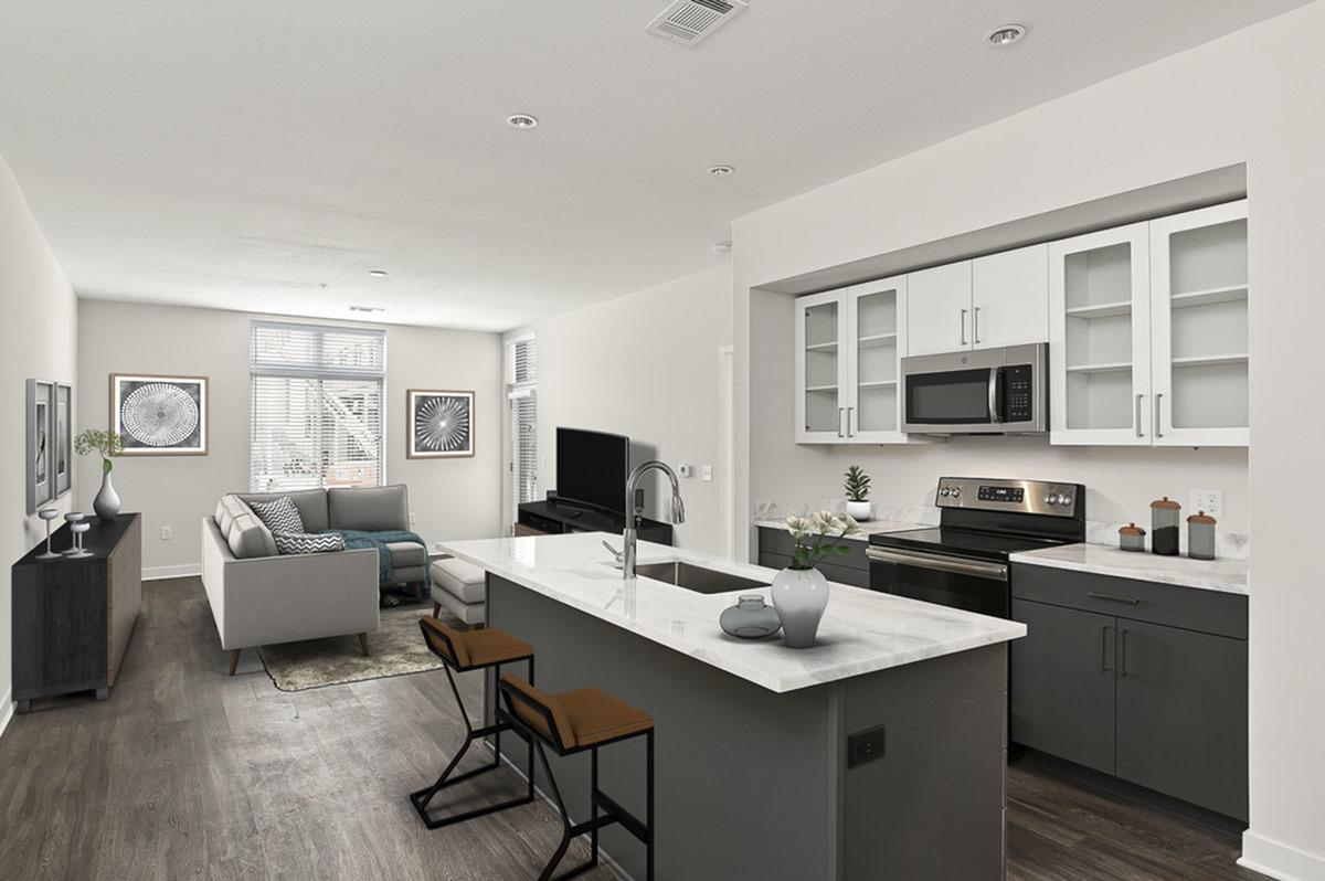 Custom Cabinetry at The District Flats Apartments in Lenexa, KS