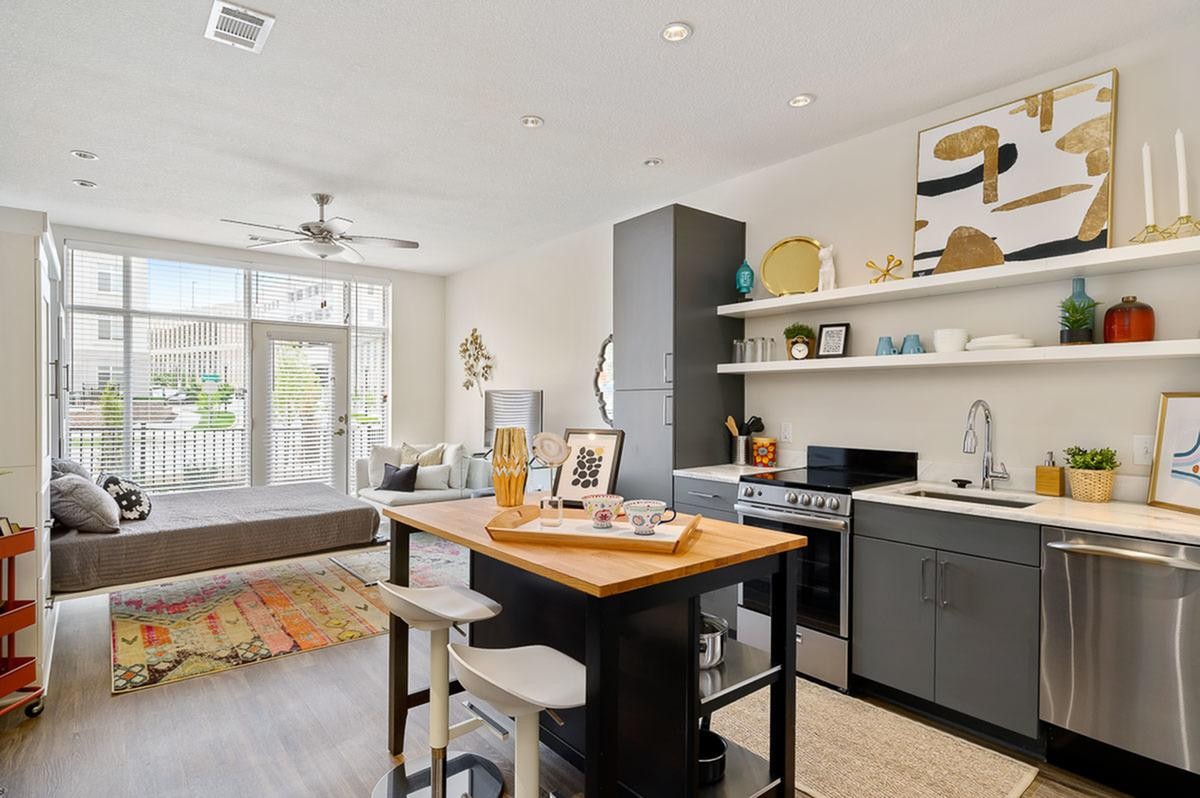 Studio Apartments at The District Flats Apartments in Lenexa, KS