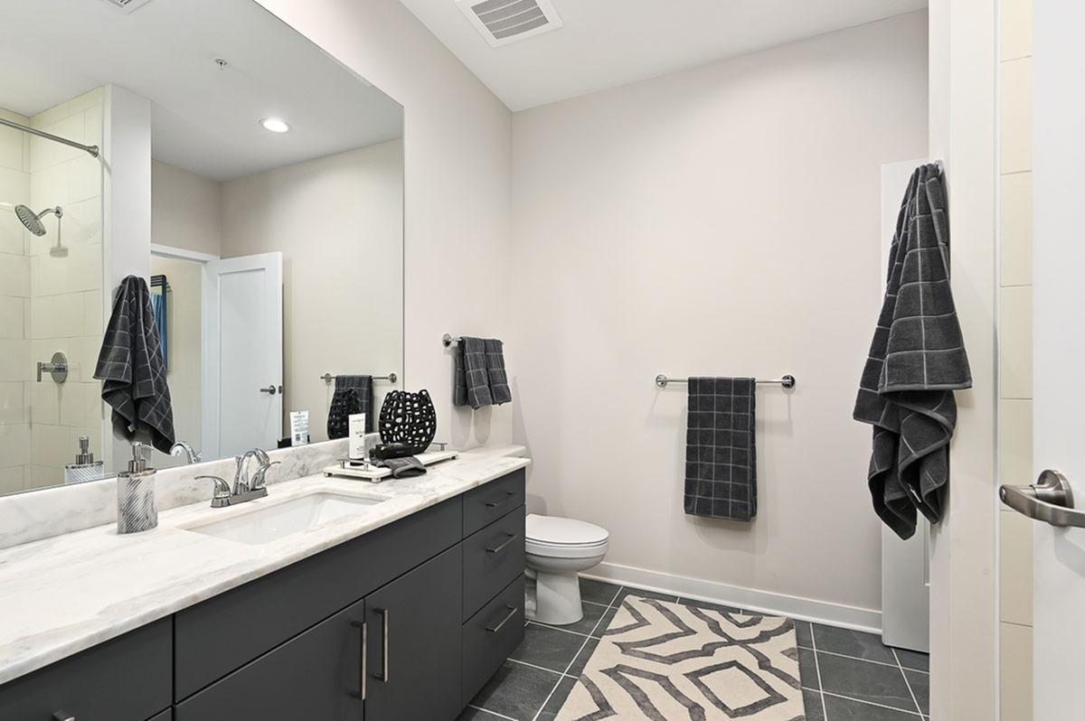 Single Vanity at The District Flats Apartments in Lenexa, KS