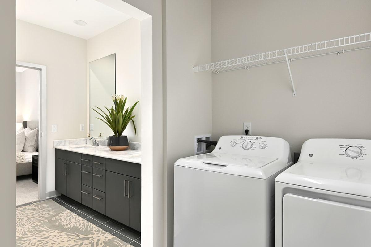 Full-Size Washer and Dryer at The District Flats Apartments in Lenexa, KS