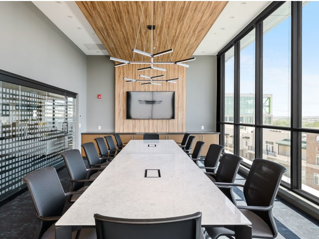 Meeting Room at The District Flats Apartments in Lenexa, KS