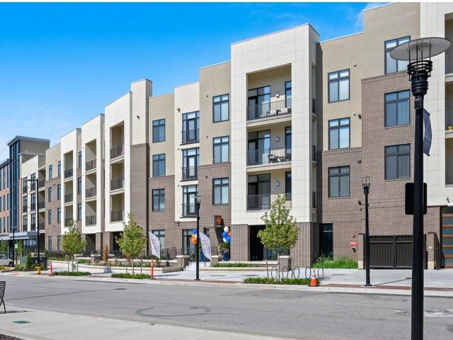 Private Balcony at The District Flats Apartments in Lenexa, KS
