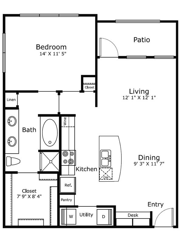 Dolce Midtown - Floorplan - A3