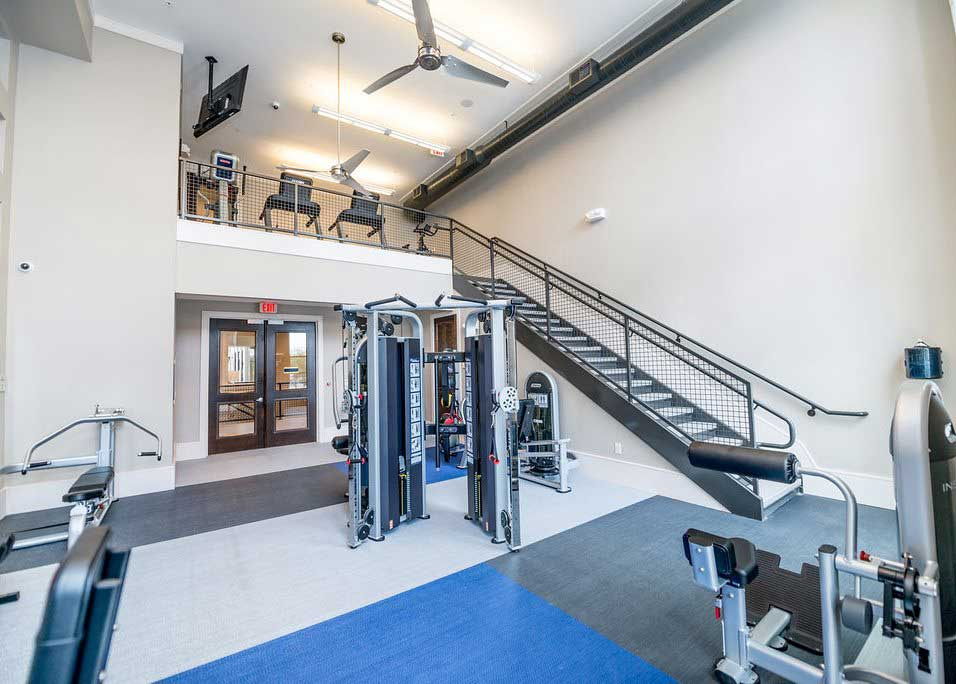 Fitness Center at Dolce Midtown Apartments in Houston, Texas