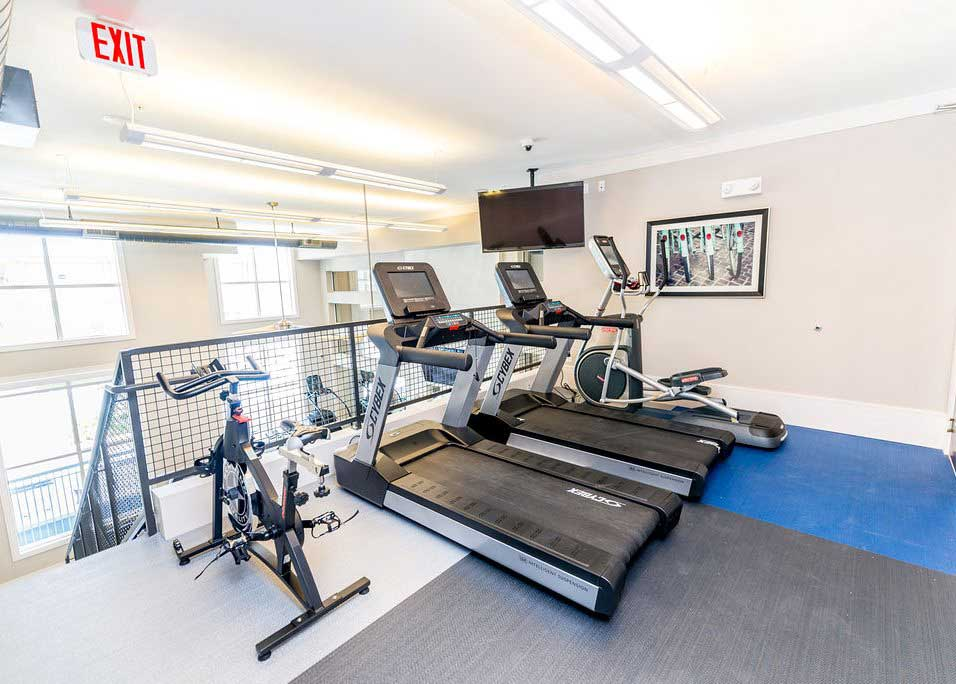 Treadmills and Cardio Equipment at Dolce Midtown Apartments in Houston, Texas