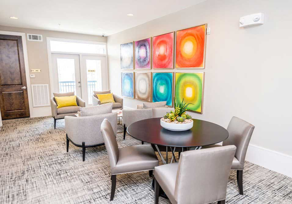 Seating Areas at Dolce Midtown Apartments in Houston, Texas