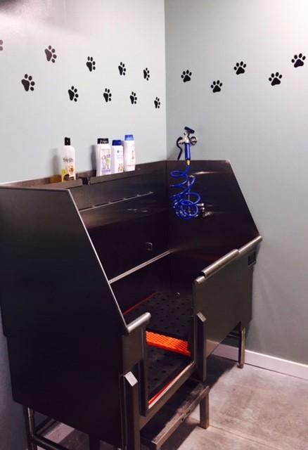Dog Wash Station at Domain City Center Luxury Apartments in Lenexa, Kansas