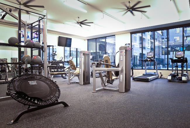 Cardio Machines at Domain City Center Luxury Apartments in Lenexa, Kansas