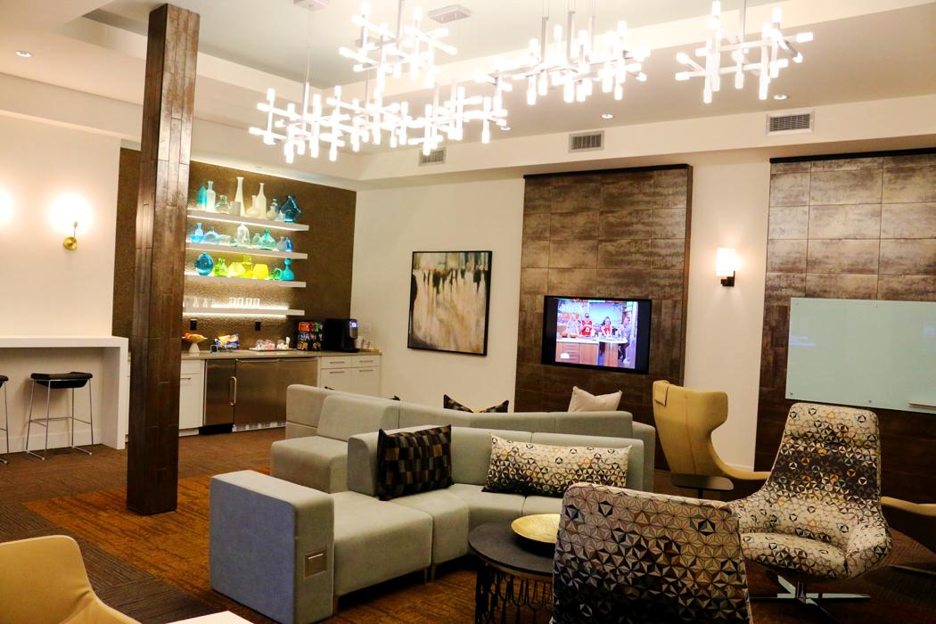 Modern Resident Clubhouse at Domain City Center Luxury Apartments in Lenexa, Kansas