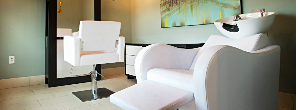 Beauty Salon at Domain City Center Luxury Apartments in Lenexa, Kansas