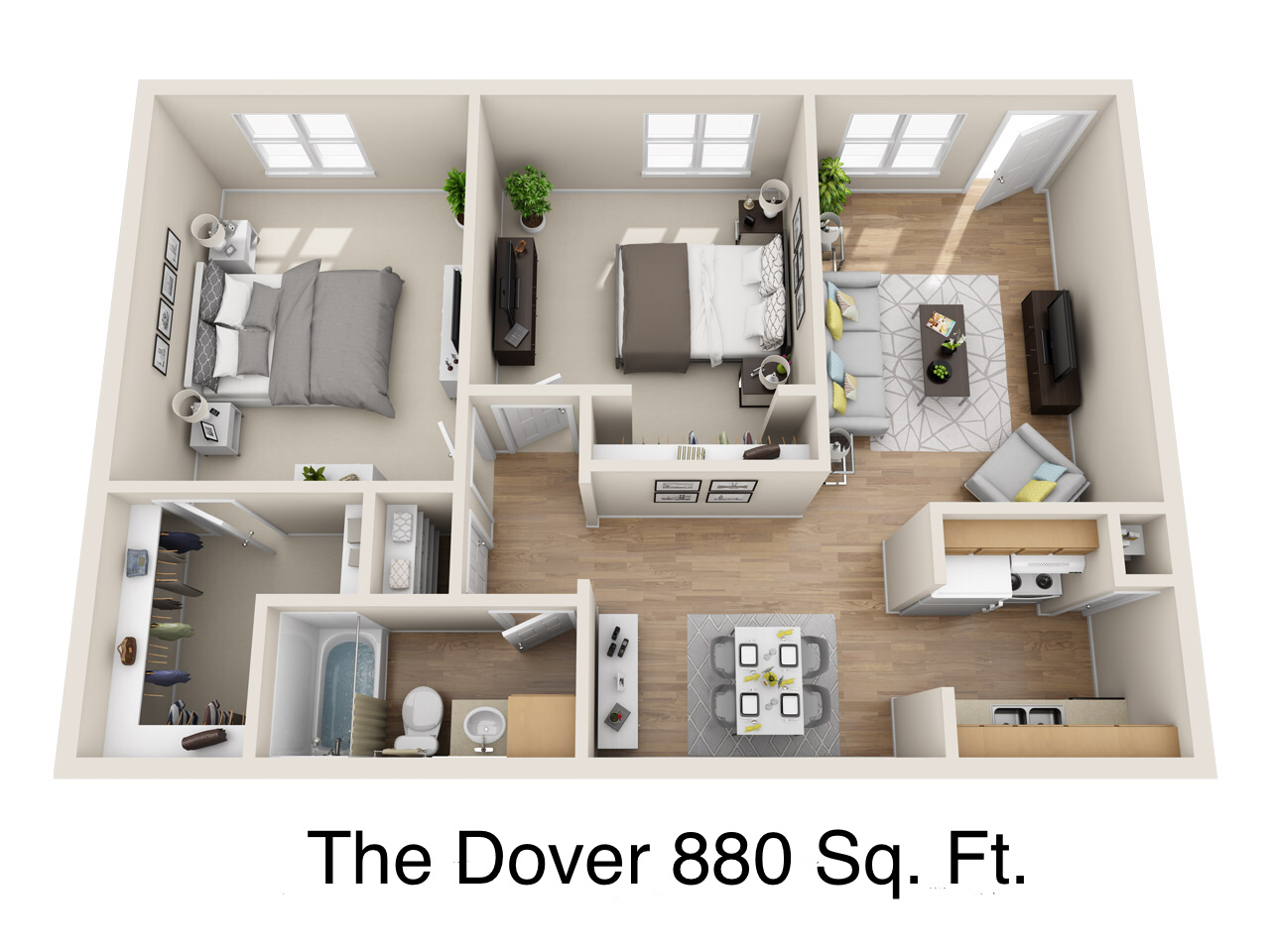 Dover Place Apartments - Floorplan - The Dover