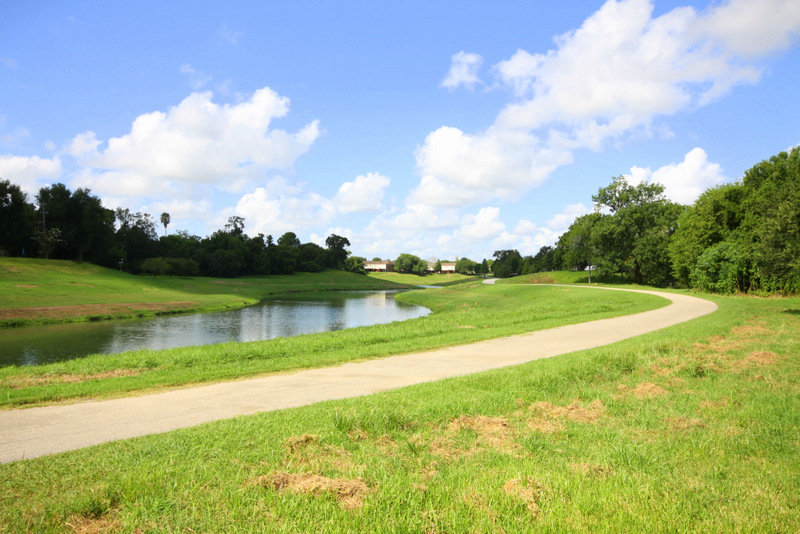 Walking/Biking trails along Sims Bayou Greenway at Dover Place Apartments in Houston, Texas