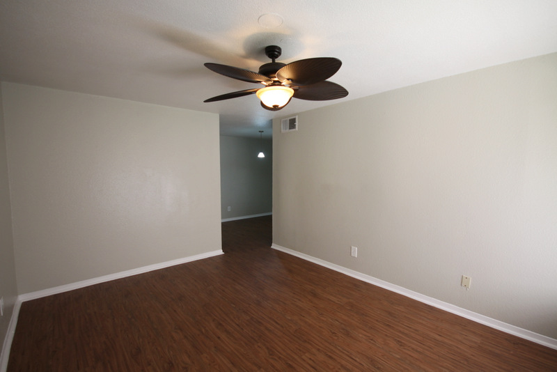 Stylish Hardwood Flooring at Dover Place Apartments in Houston, Texas