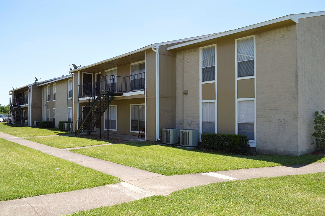 Patio or Balcony at Dyersdale Village Apartments in Houston, Texas