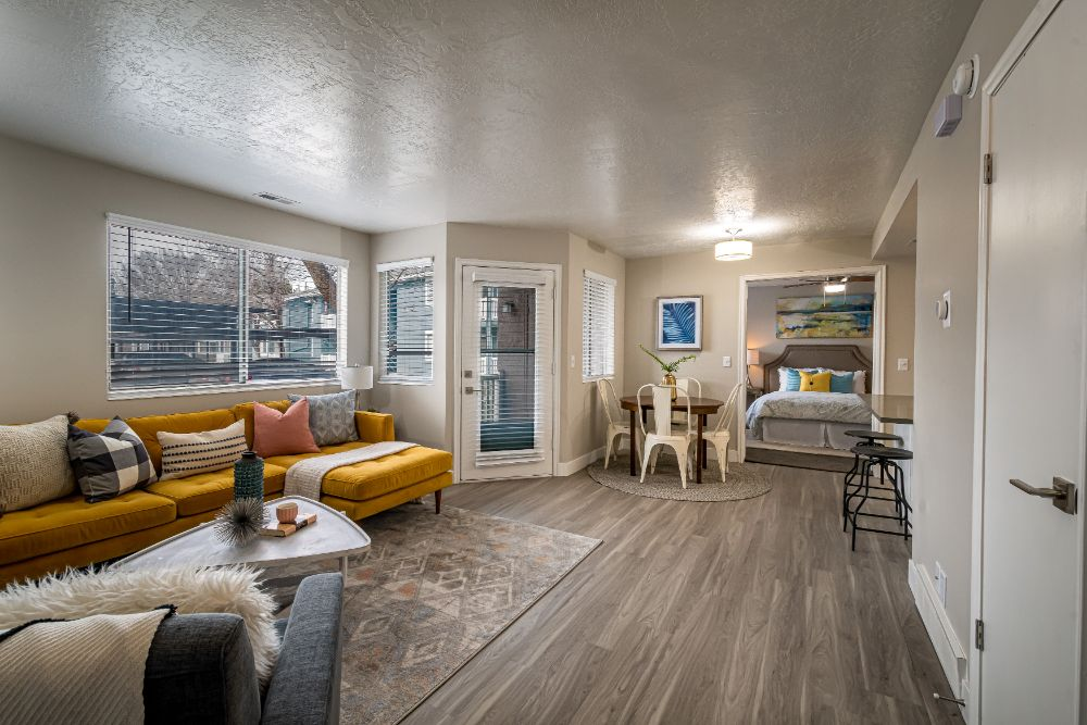 Remodeled Living Rooms at Edgewood Park Apartments