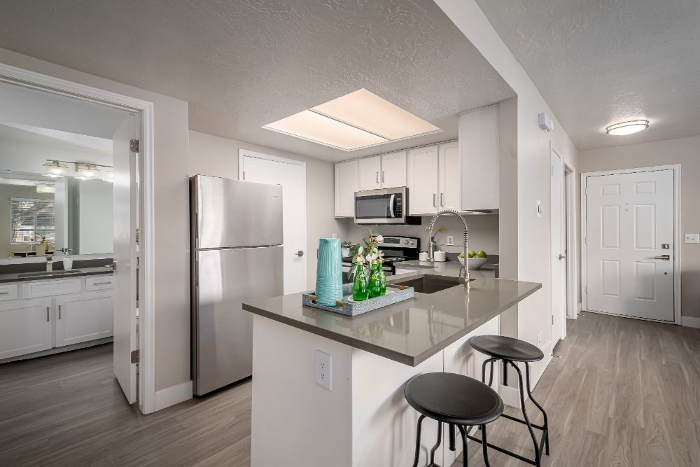 Island Kitchen Feature at Edgewood Park Apartments