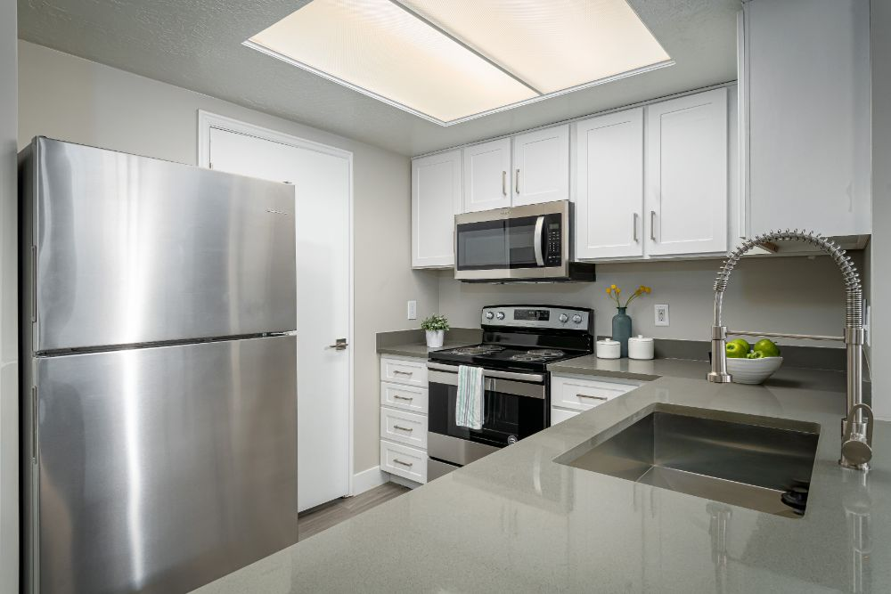 Renovated Kitchens at Edgewood Park Apartments