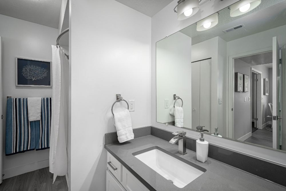 Renovated Bathrooms at Edgewood Park Apartments
