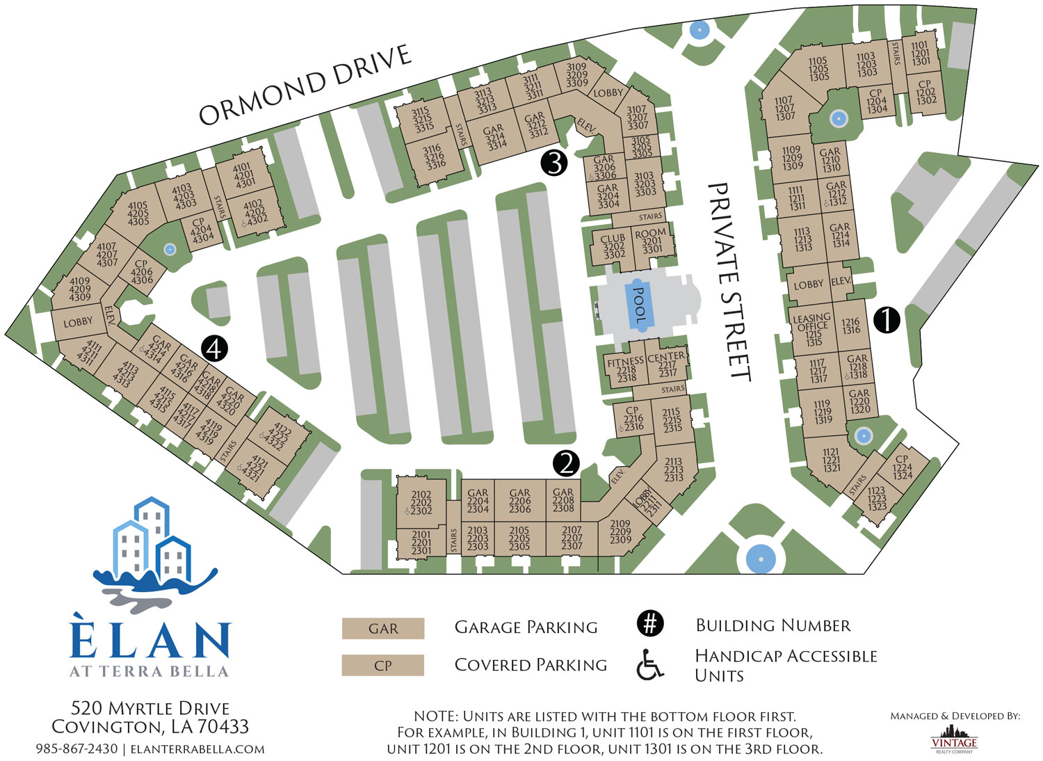 Elan at Terra Bella Site Plan