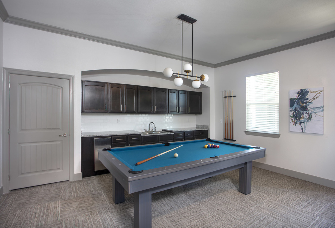 Billiards Table at Elan at Terra Bella Apartments in Covington, Louisiana