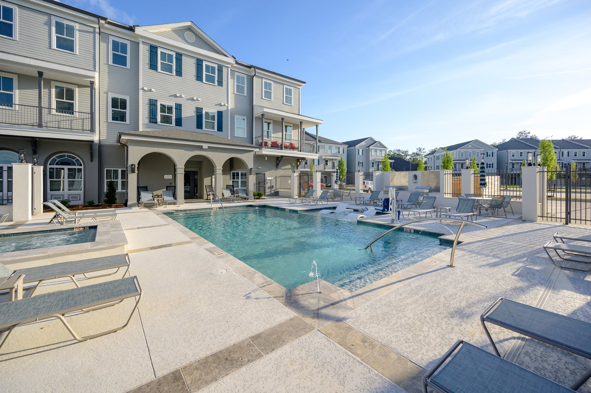 Sun Deck at Elan at Terra Bella Apartments in Covington, Louisiana