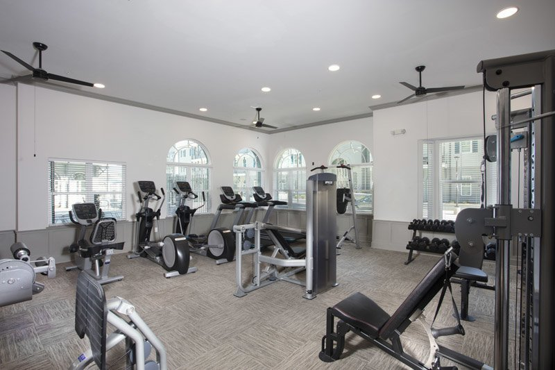 On-Site Fitness Center at Elan at Terra Bella Apartments in Covington, Louisiana
